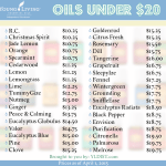 Essential Oils Under $20 from Young Living