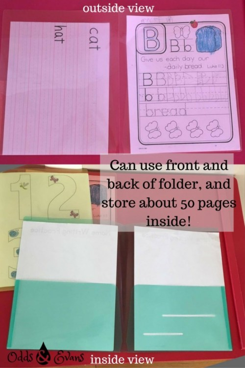 preschool tracing folders activity dry-erase marker