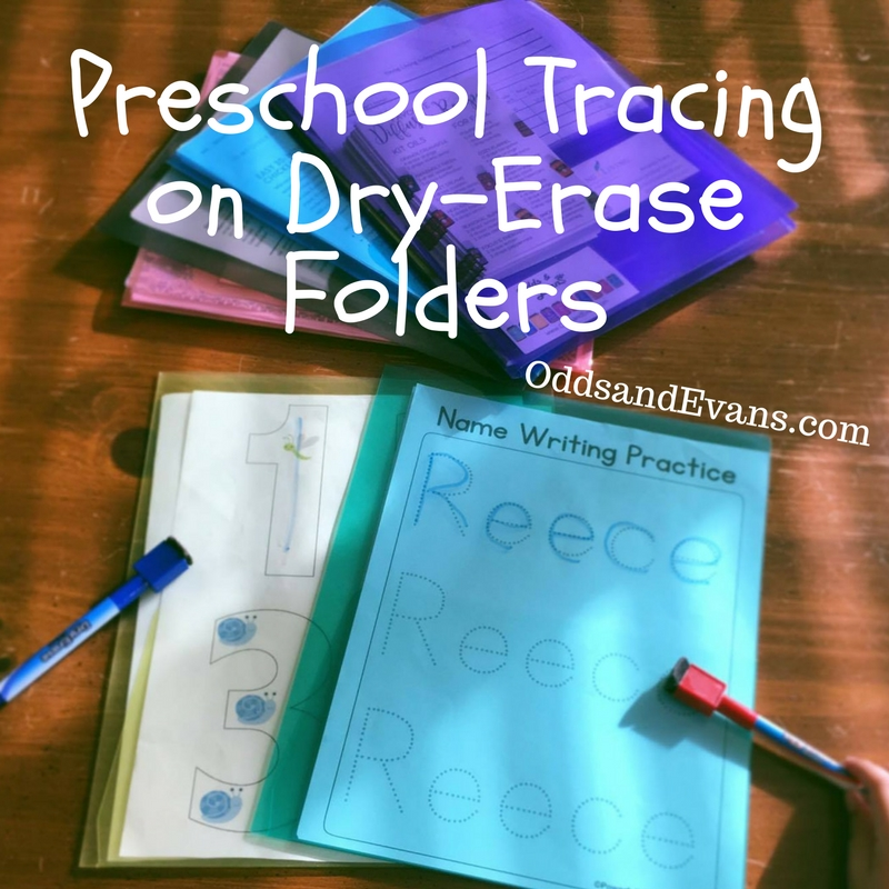 Preschool Tracing Idea On Dry-Erase Folders - Odds & Evans