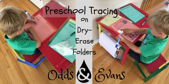 preschool tracing activity dry erase wipe off folders
