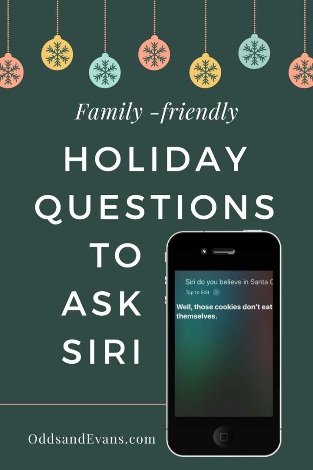 Holiday Questions to Ask Siri Christmas Hanukkah Kwanzaa New Year Thanksgiving