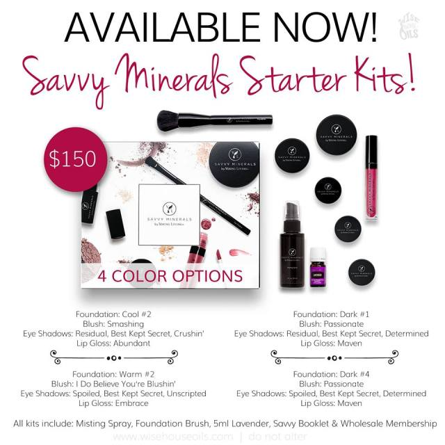 Savvy minerals starter kit options young living all natural cruelty free makeup