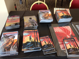 Torchbearer table setup at Asbury Park Comic Con