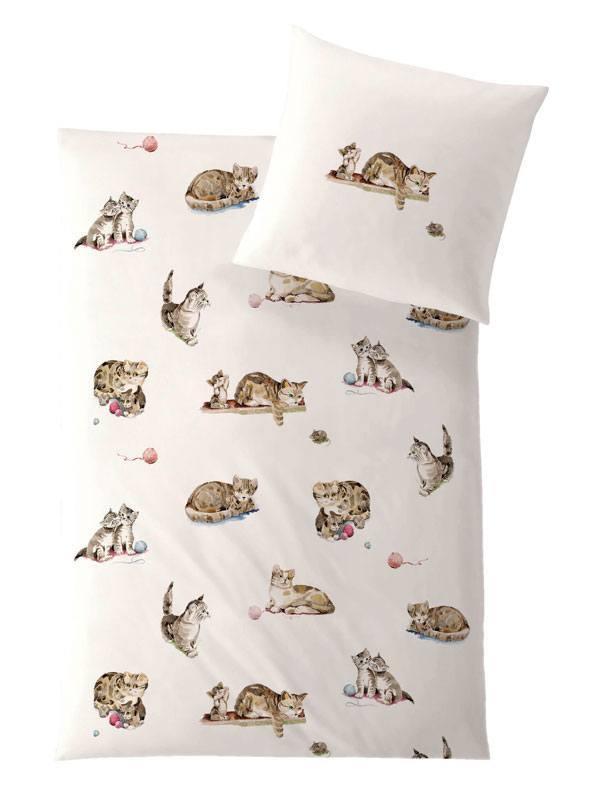 HEFEL Kinder Bettwäsche Katze