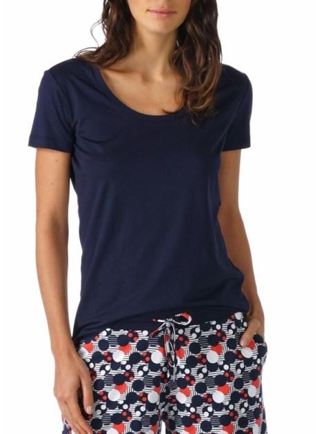 MEY Night2Day Short-Sleeved Shirt Damen Modal Baumwoll Mischung night-blue Back