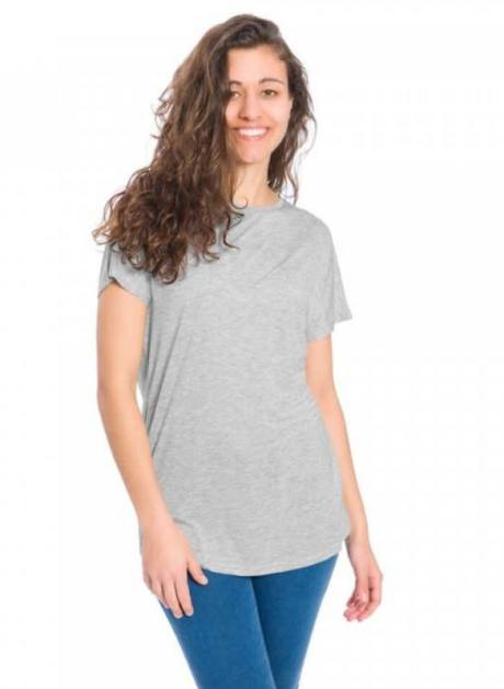365 T-Shirt Damen Lyocell TENCEL™ Damen Grau Dame