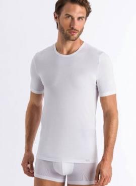 Hanro Natural Function Shirt Kurzarm Holzfaser weiß
