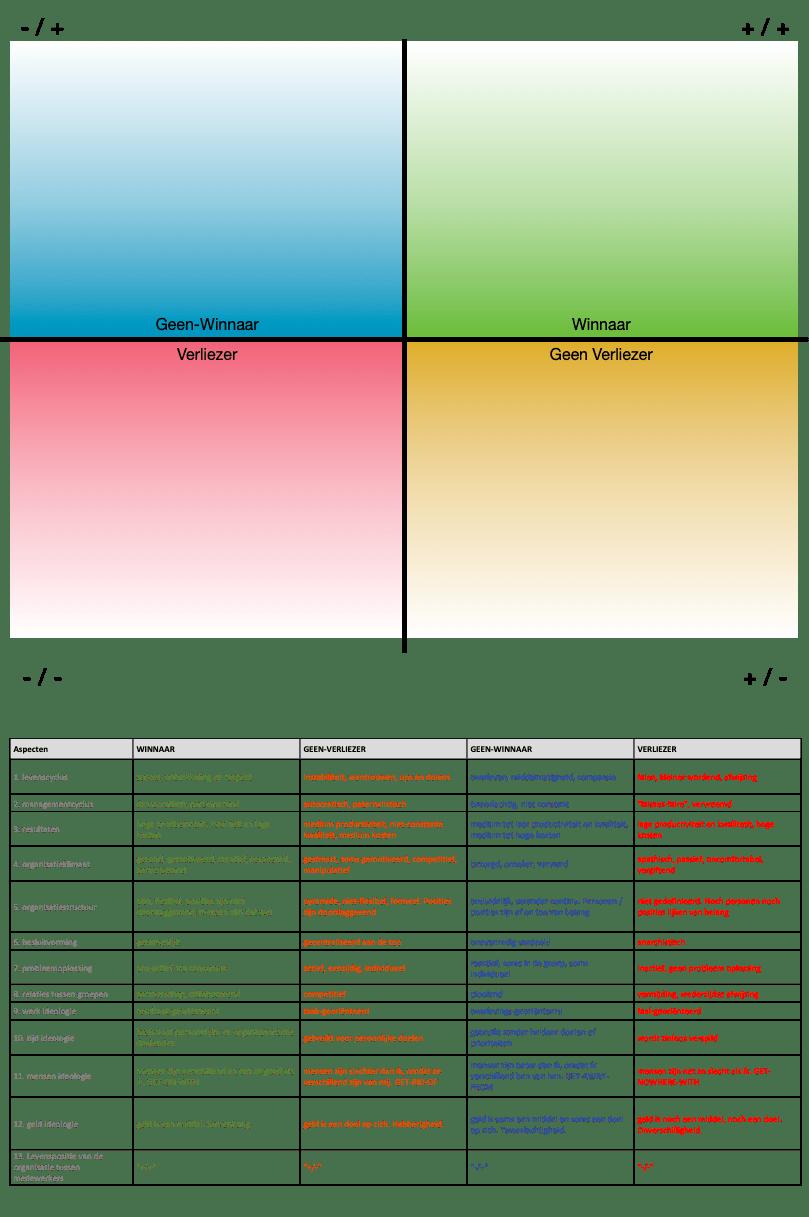Analyse Organisationeel Script met tabel