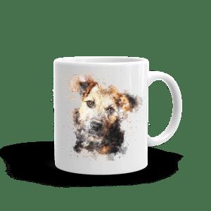 mugg med tryck av en border terrier hund