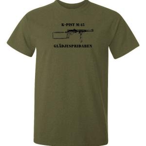 Kpist tryckt på en t-shirt i hög kvalitet, för oss som var med när försvaret var något att lita på.