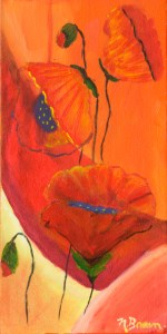 The fifteenth painting of the Poppy Project by Odette Laroche