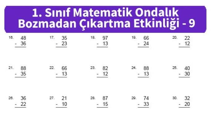 ilkokul_1_Sinif_Matematk_Ondalik_Bozmadan_Cikartma_Etkinligi_9_ornek_resim