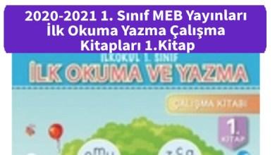 Photo of 2020-2021 1. Sınıf MEB Yayınları İlk Okuma Yazma Çalışma Kitapları 1.Kitap İndir