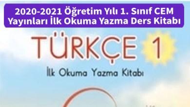 Photo of 2020-2021 Öğretim Yılı 1. Sınıf CEM Yayınları İlk Okuma Yazma Ders Kitabı İndir