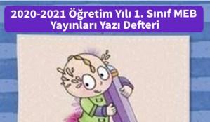 2020-2021_Ogretim_Yili_1_Sinif_MEB_Yayinlari_Yazi_Defteri