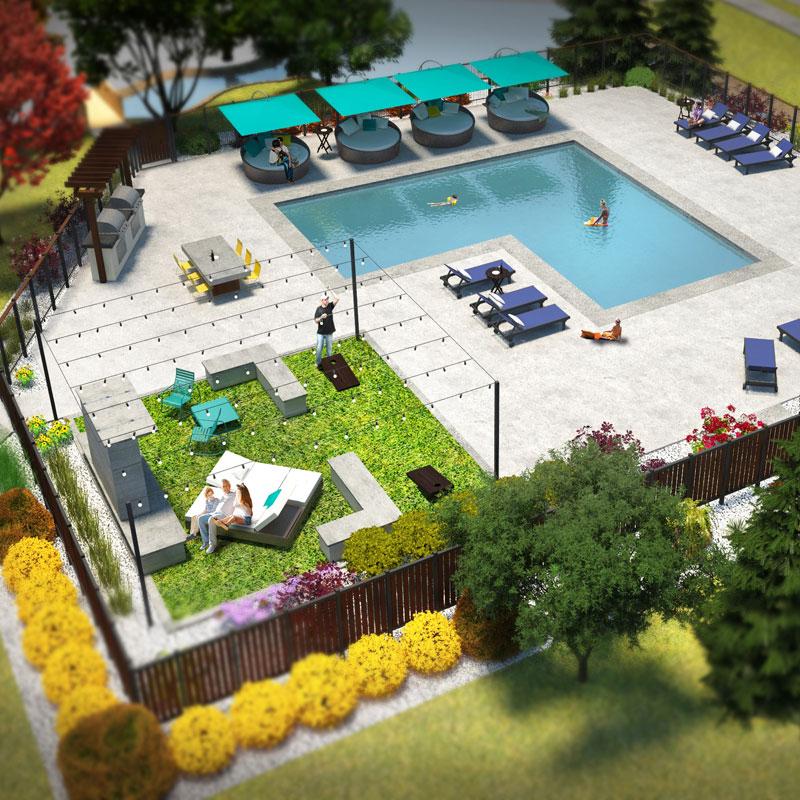 Pool Amenity 3D Model