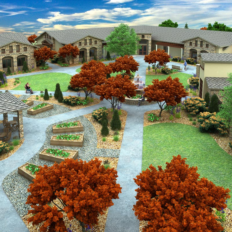 Landmark Assisted Living 3D Model