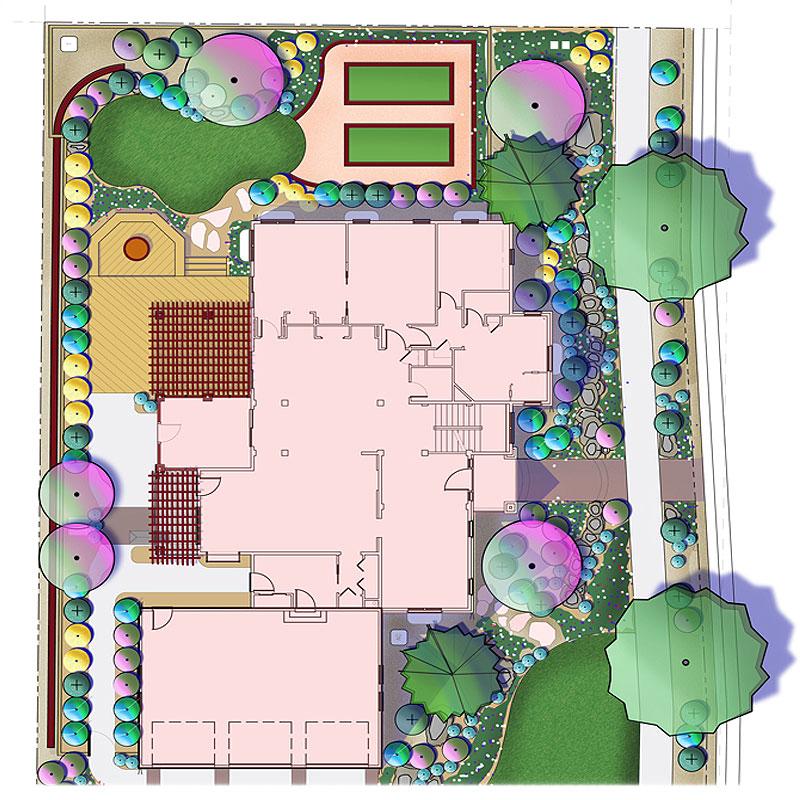 Concept Landscape Plan Rendering