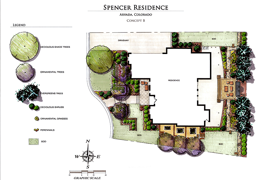 Arvada Custom Home Landscape Plan
