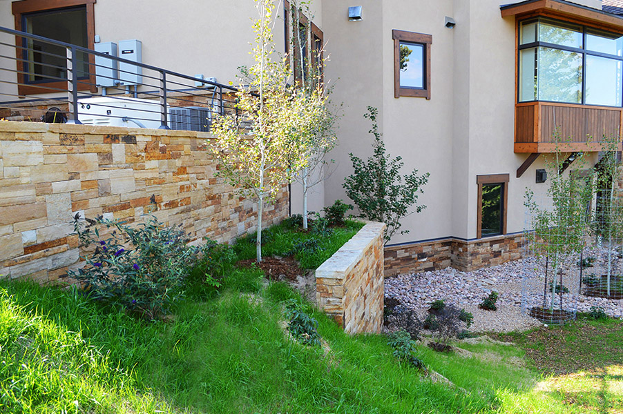 Mountain Home Landscape Retaining Walls