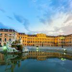 63973827 - schonbrunn palace vienna austria at dusk