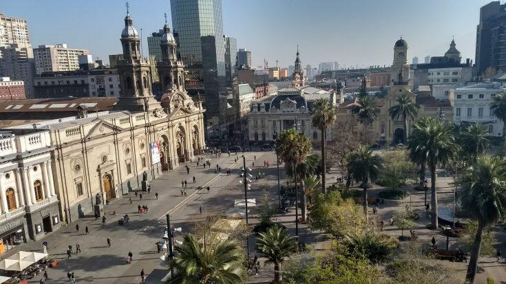 Plaza de Armas em Santiago gastando pouco