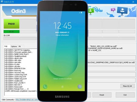 Descargar Odin para Galaxy J2 Core