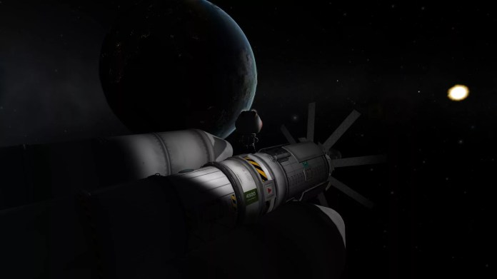Kerbin high-orbit experiments with Boron I