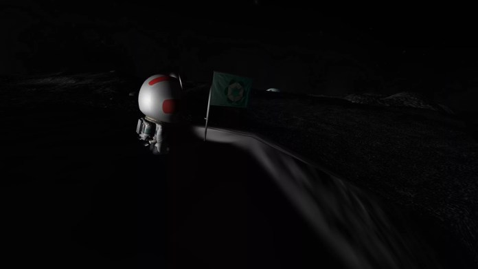 Kerbin is perpetually peaking just over the horizon from here