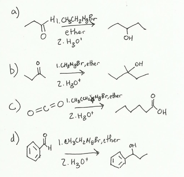 Preparation of triphenylmethanol. Grignard Synthesis of