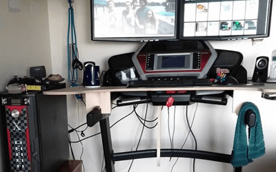 Homemade Treadmill Desk