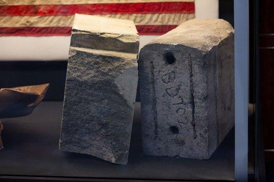 Limestone fragments