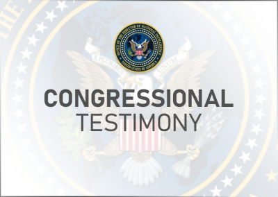 Statement for the Record of NCSC Director Evanina for SSCI Hearing on Security Clearance Reform