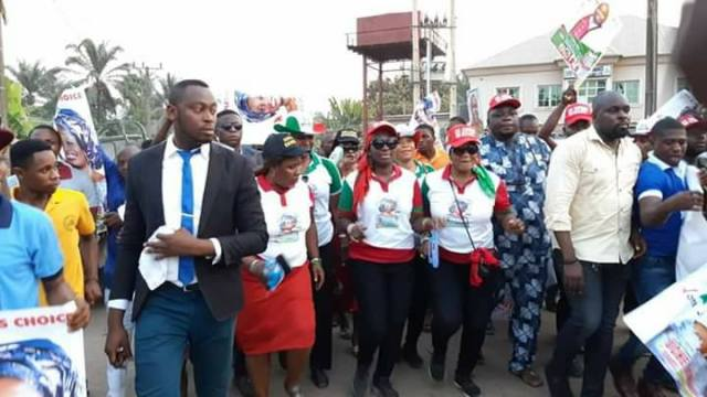 Uche Ekwunife during the campaign