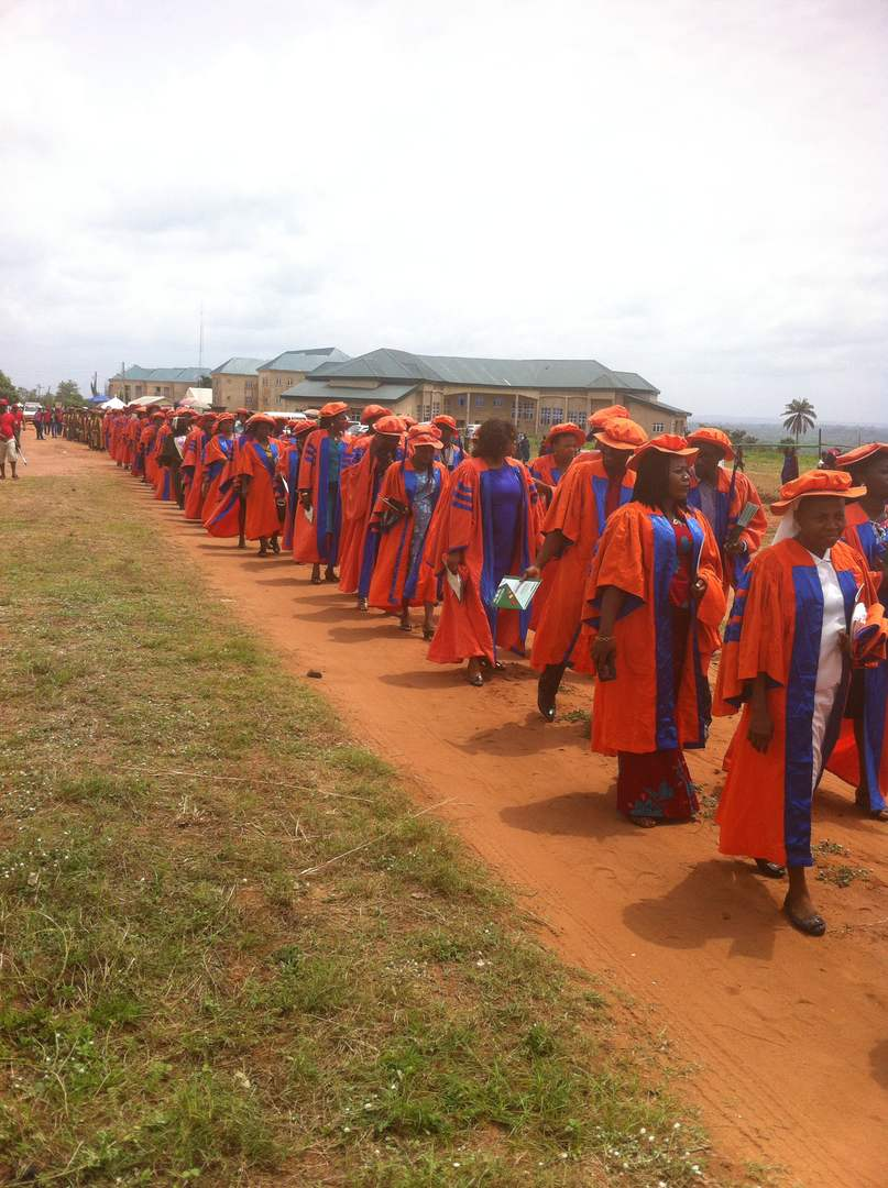 Students during the matriculation