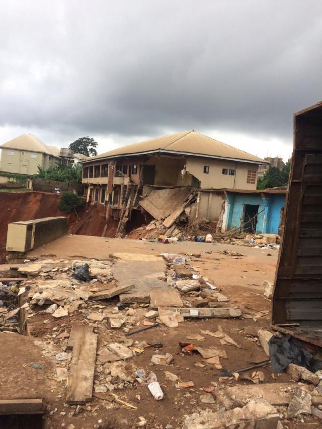 Flood ravaged 100 foot road Nnewi
