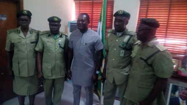 Key functionaries of the Nigerian Correctional Service  with the Speaker