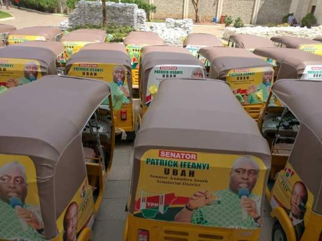 Ifeanyi Ubah rice tricycle Anambra senator