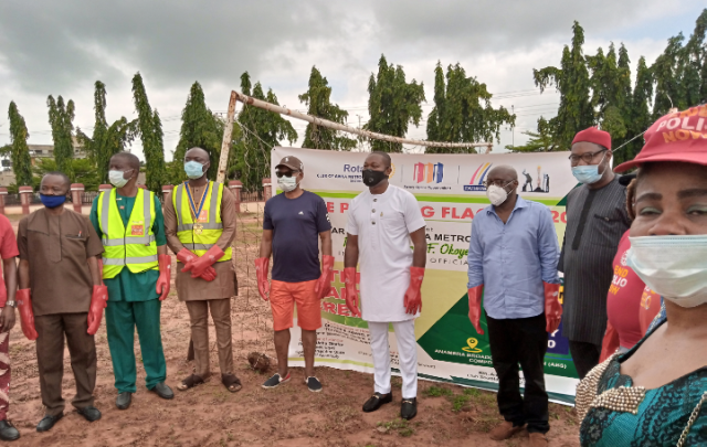 Obiano, Speaker, Anambra CP Commend Awka Metropolis Rotary Club, For Tree Planting.