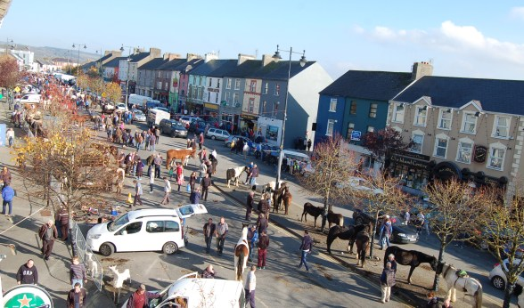 Con's 'street between two fields' during the Castleisland Horse Fair last year