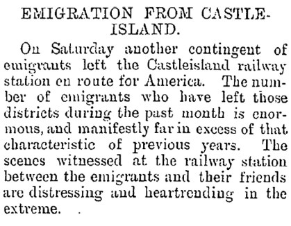 Emigration in 1903