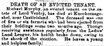 3 Misery mages show an evicted family in Castleisland in 1882