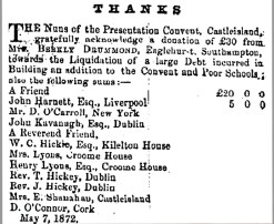 3 School building for the poor in 1872 £30 from Mrs Berkly Drummond