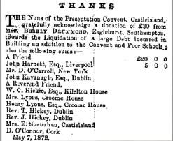 3 School building for the poor in 1872 £30 from Mrs Berkly Drummond