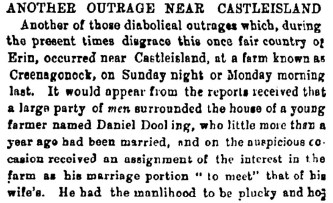 7 Another Outrage Castleisland in the news in 1882