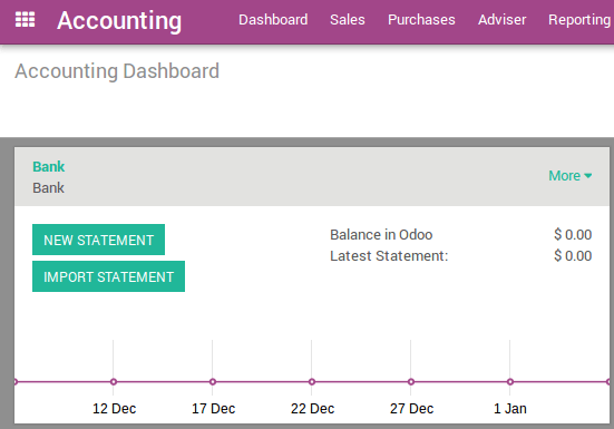 How To Setup A New Bank Account Odoo 11 0 Documentation