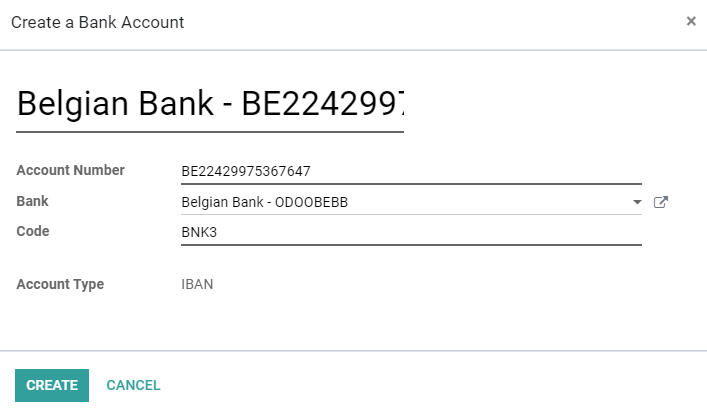 Bank Accounts Odoo 13 0 Documentation