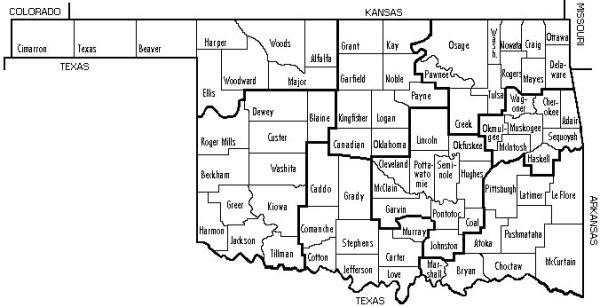 Oklahoma AADT Maps
