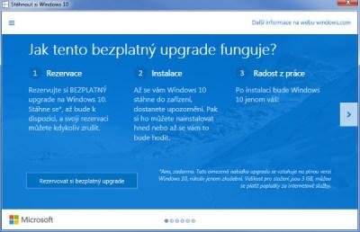 Rezervace Windows 10