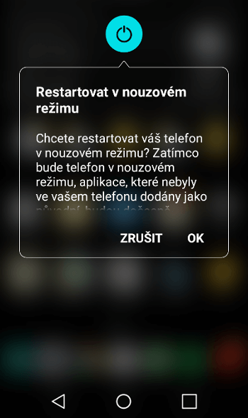 nouzový režim Android